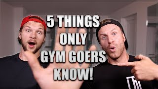5 Things Only Gym Goers Know!We've all faced at least one of the 5 things covered in todays video team right? haha make sure you let us know which  one you have had below, and keep being awesome!DON'T FORGET TO LIKE, COMMENT & SUBSCRIBE- http://bit.ly/YTLeanMachinesConnect with us and ASK us some Questions: *INSTAGRAM: http://bit.ly/IGLeanMachines*FACEBOOK: http://bit.ly/FBLeanMachines*TWITTER: http://bit.ly/TwitterLeanMachies*SNAPCHAT: @theleanmachines*BLOG/WEBSITE: www.theleanmachines.comAssault bike - http://bit.ly/2o3SCbXI receive a percentage of the revenue from purchases made through links in this post with an asterisk next to them.* Check out our Protein Food Shop hampers here - http://www.proteinfoodshop.com/the-lean-machines* Awesome supplements - https://awesomesupplements.co.uk/?ref=lmLearn more with our BOOK http://www.amazon.co.uk/dp/1472236262/Please only attempt exercises from this video if you are fit to do so, if unsure please consult your health care professional first!