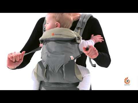 Porter bébé en position ventrale dans le porte bébé Ergobaby 360