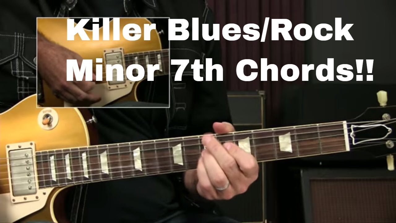 Blues Rock Guitar Lesson: Minor 7th Chord Shapes