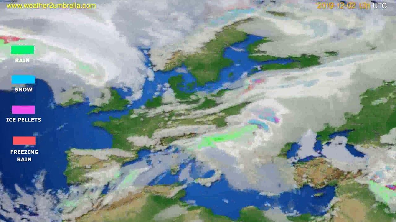 Precipitation forecast Europe // modelrun: 00h UTC 2019-12-01