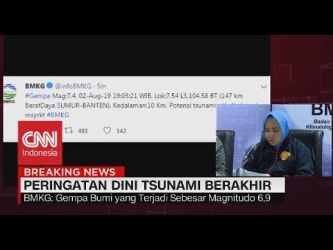 BMKG Akhiri Peringatan Dini Tsunami Usai Gempa Banten, Warga Diimbau Kembali ke Rumah