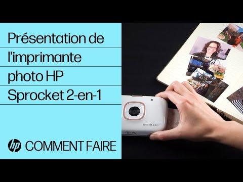Présentation de l'imprimante photo HP Sprocket 2-en-1