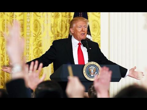 Trump's Press Conference MELTDOWN (видео)