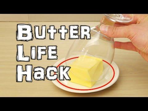 Hårdt smør fra køleskabet.