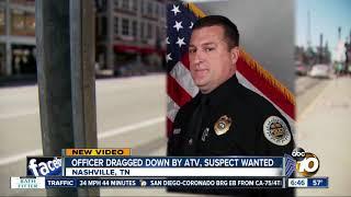 Video shows ATV rider dragging Nashville police officer