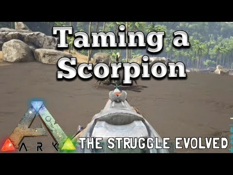 Ark: Easiest Way To Tame A Scorpion 🦂  (Xbox One) -  Pulmonoscorpius