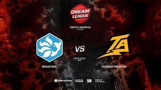 Thunder Predator vs Braxtone, DreamLeague Minor Qualifiers SA, bo3, game 2 [ Lum1Sit & Mortalles]