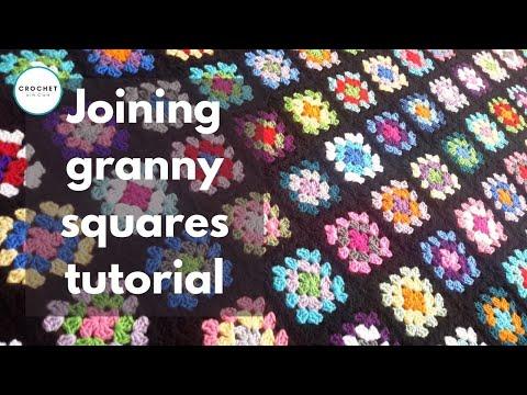 Crochet Joining Granny Squares Tutorial