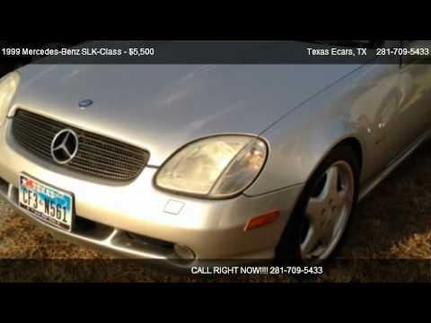 1999 Mercedes-Benz SLK-Class KOMPRESSOR ROADSTER 2.3L - for sale in Stafford, TX 77477