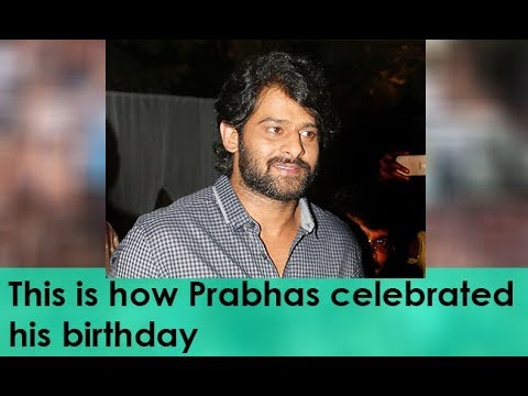 Viral Video of Prabhas celebrates birthday on the sets of 'Saaho'