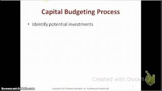 Capital Budgeting- Process