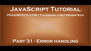 Error handling in JavaScript