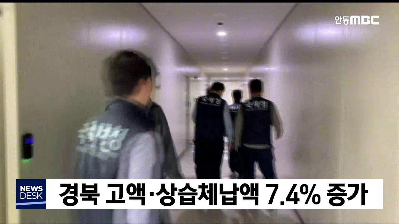 경북 고액·상습체납액 7.4% 증가