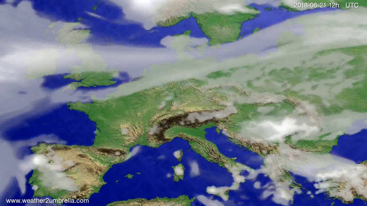 Cloud forecast Europe 2018-06-17