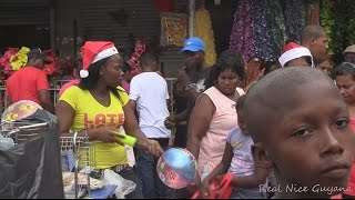 Christmas shopping walking down Water Street,Georgetown, Guyana (HD)