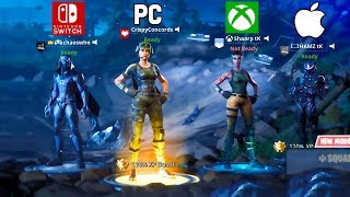 Win... but we're all on different consoles (Fortnite)