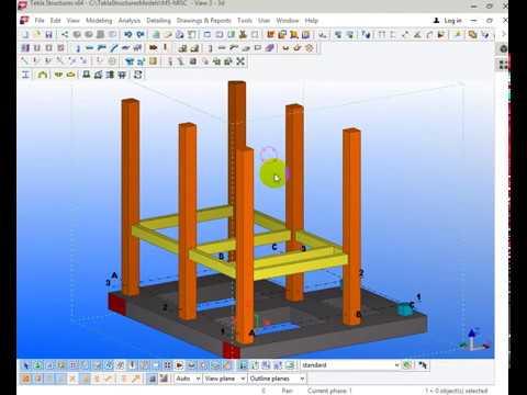 Hướng dẫn dựng mô hình nhà bê tông cốt thép bằng tekla