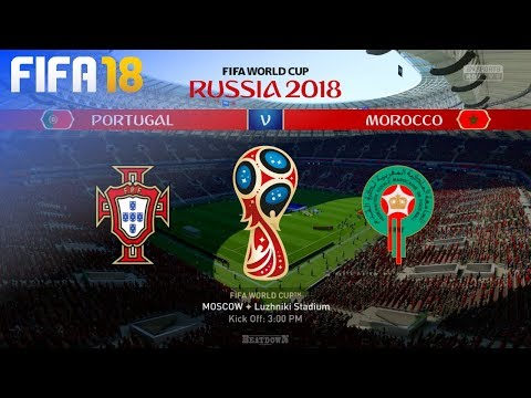 FIFA 18 World Cup - Portugal vs. Morocco @ Luzhniki Stadium (Group B)