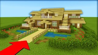 """Minecraft Tutorial: How To Make A Wooden Survival House """"2019 Tutorial"""""""