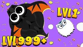 Mope.IO - BLACK DRAGON LVL 999+ (10,000,000+ EXP)