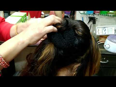 Hairstyles for short hair - Easy Hair Style For Short and Thin Hair For Party wear Look in Hindi
