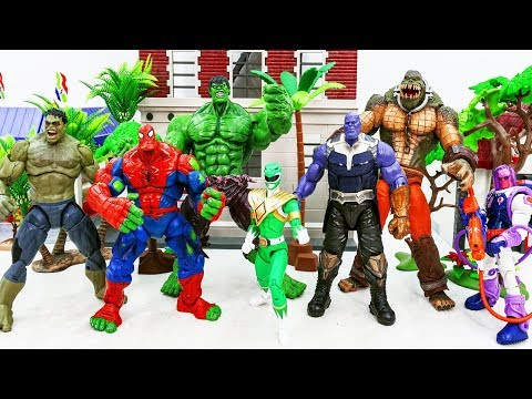 Marvel Super Hero Spider Hulk, Hulk Transform vs Thanos Villains Army ~! PERGI PERGI PERGI!!!