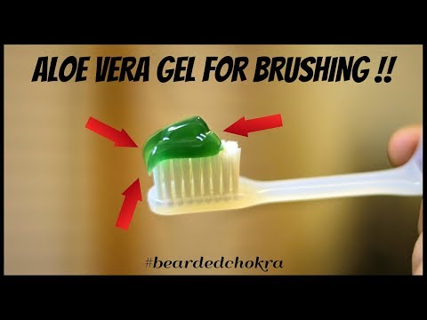Beard oil - I Brush With Aloe Vera Gel  Bearded Chokra
