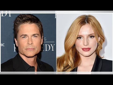 Rob lowe slams bella thorne for tweeting landslides closed roads have affected his work