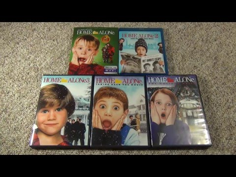Home Alone Blu-Ray and DVD Collection and Unboxing the 4th Movie