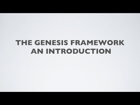 The genesis framework for WordPress an introduction
