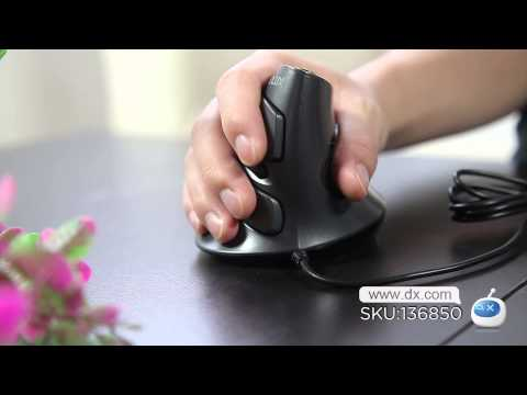 Delux M618LU Wired 2400DPI USB Vertical Optical Mouse -- DX.COM