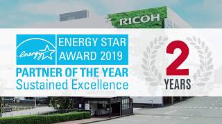 RICOH ENERGY STAR AWARD 2019 Partner of the Year Sustained Excellence 2 Years