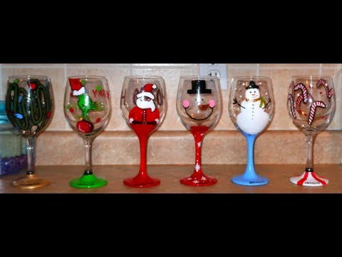 DIY: Hand Painted Wine Glasses – CHRISTMAS EDITION  ♡ Theeasydiy #Crafty