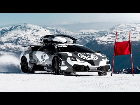 Egy legenda síelés autóval