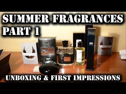Summer fragrances 2016 - part 1 - unboxing and first impressions