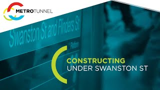 Constructing under Swanston Street
