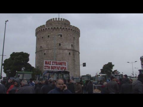 Πορεία τρακτέρ στη Θεσσαλονίκη