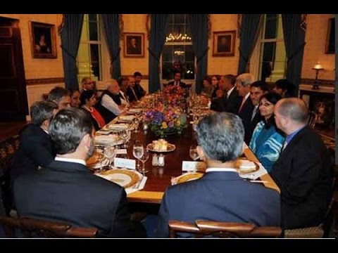 meets - Subscribe to Official India TV YouTube channel here: http://goo.gl/5Mcn62 Modi and Obama discuss bilateral issues over a private dinner organised in honor of Narendra Modi at the White House....