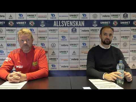 Presskonferens efter ÖSK - Mjällby