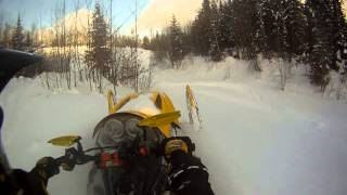 8. Ski-Doo MXZ-X 600 Playin in Deep POW!