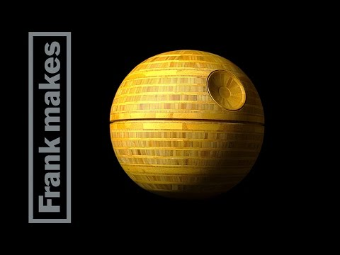 Woodworker Makes Incredible Bamboo Death Star From Star Wars