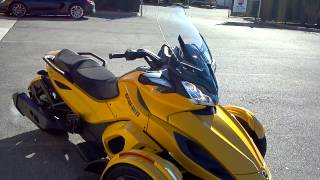9. 2013 CAN-AM SPYDER ST-S YELLOW @ ALCOA GOOD TIMES