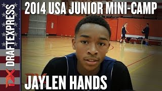 2014 Jaylen Hands Interview - DraftExpress - USA Mens Junior Team Mini-Camp