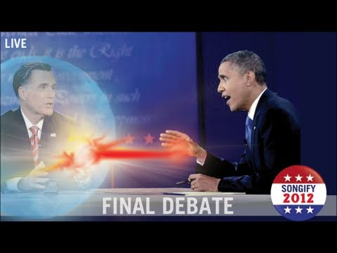schmoyoho - In the third and final debate of the 2012 presidential election, the Requiem Politicus Disputationem, Mitt Romney and Barack Obama engage in a euphonious bat...