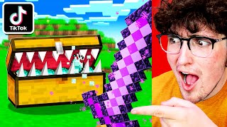 I Tested 5 VIRAL TIKTOK Minecraft Hacks That WORK!