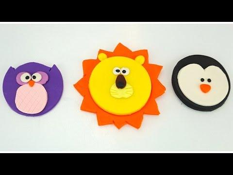 Пластилин Плей-до для детей. Лепим Львенка, Пингвина и Совенка. Игрушкин ТВ