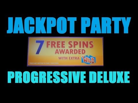 ★ JACKPOT PARTY PROGRESSIVE DELUXE QUICK DRAW! DProxima & ACINLVNV Big Slot Machine Bonus Win! ~WMS