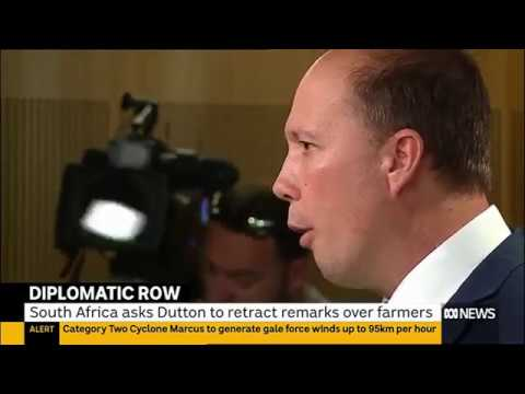 Darth Dutton creates diplomatic row with South Africa