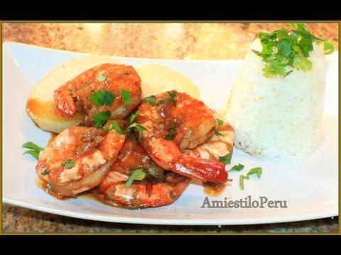 CAMARONES AL AJO SHRIMP with garlic