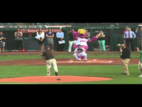President Helmer Throws Out First Pitch